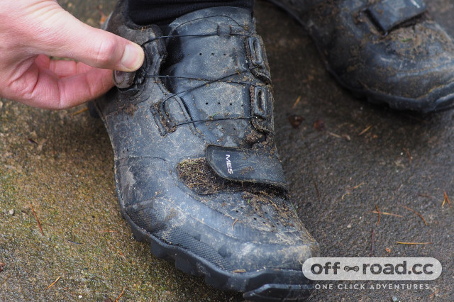 2020 Shimano ME 5 Trail shoe review boa.JPG