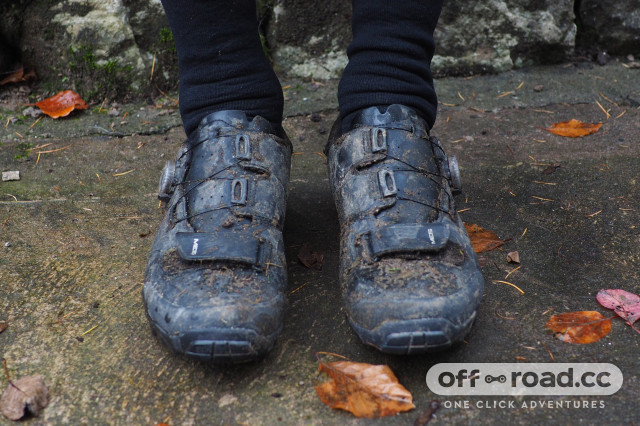 2020 Shimano ME 5 Trail shoe review front.JPG