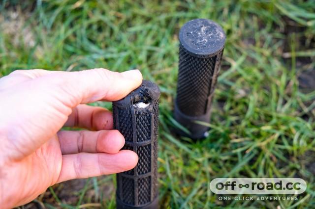 Black Thin DMR Brendog Flangeless DeathGrip Mountain Bike Grips
