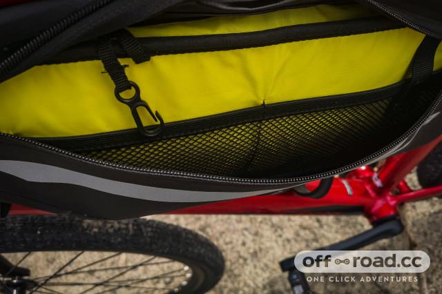 Merida saddle bag Velcro Stripe Size S Black Grey
