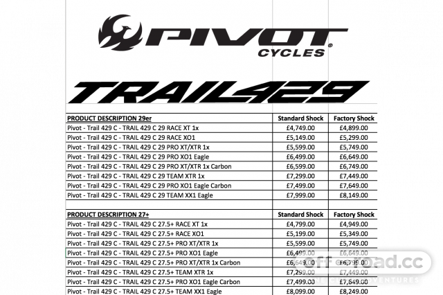 Pivot introduce the new Trail 429 - short travel 29er or