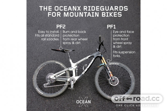 Front MTB Mudguard RideGuard PF1 Guard Mountain Bike Fender Trash Free Trails
