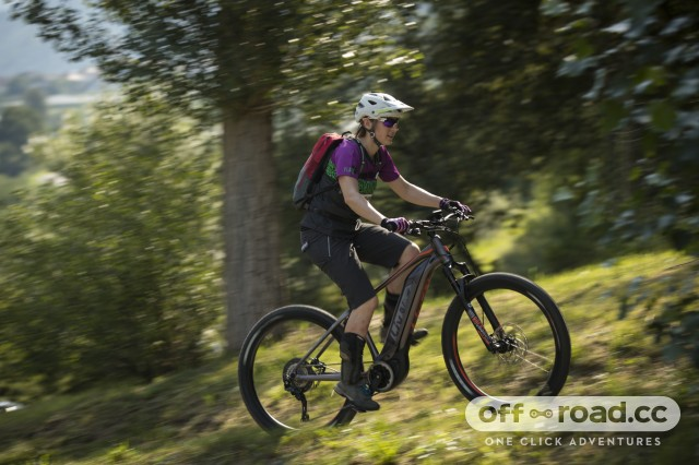 Liv Vall E+ Pro E-Bike Riding 2