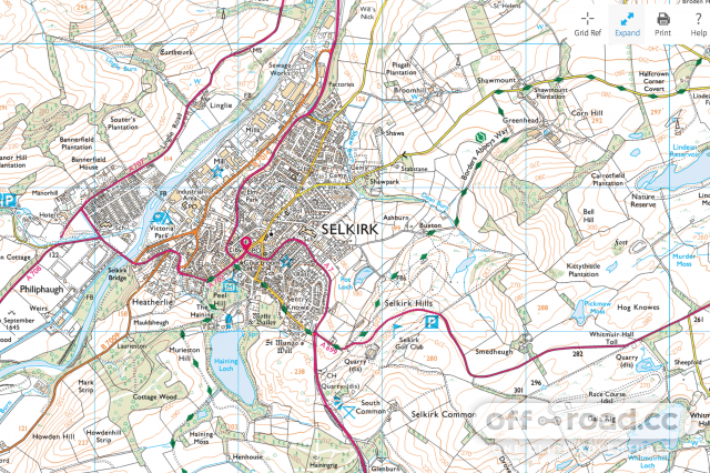 Selkirk town os map