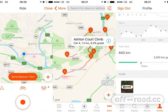 Our favourite mountain bike apps for iphone and android off road price free though premium costs 4499 for a year format iphone android from strava gumiabroncs Gallery