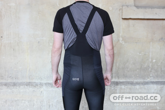 Gore C3 Windstopper bib tights back