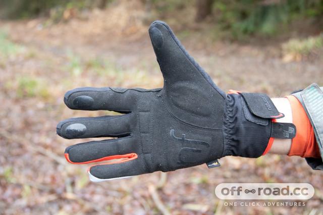 Grey x Black x Red CUBE Natural Fit Gloves Long Finger