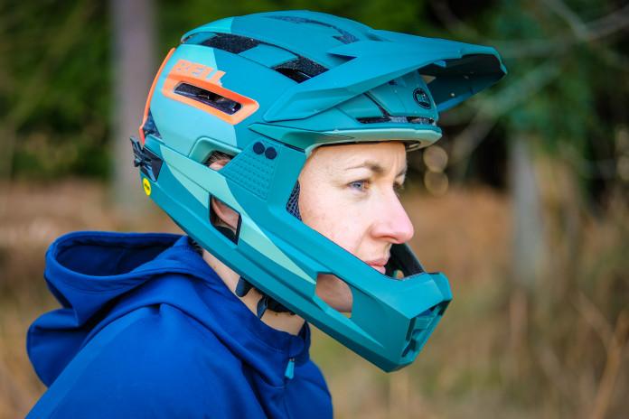 Bell Super Air R Mips Full Face Helmet Matte//Gloss Black Small
